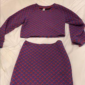 American Apparel Long sleeved 2 piece set